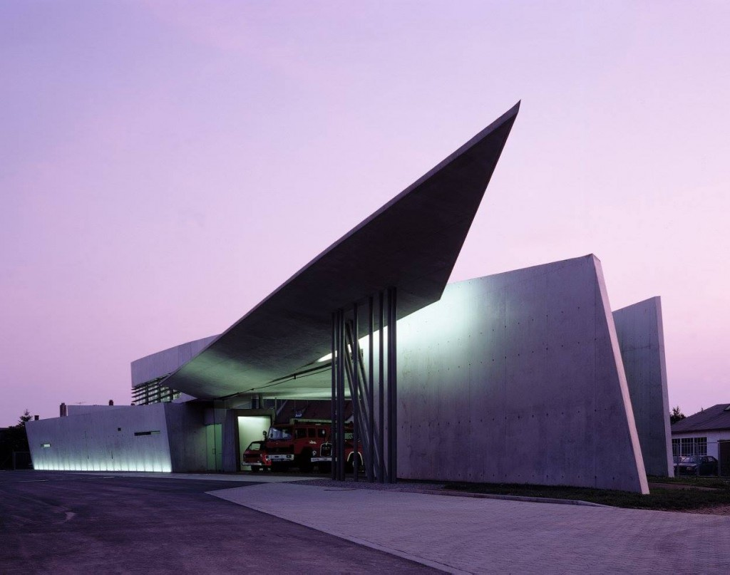 Vitra Fire Station, Weil am Rhein, Germany, 1993, Zaha Hadid