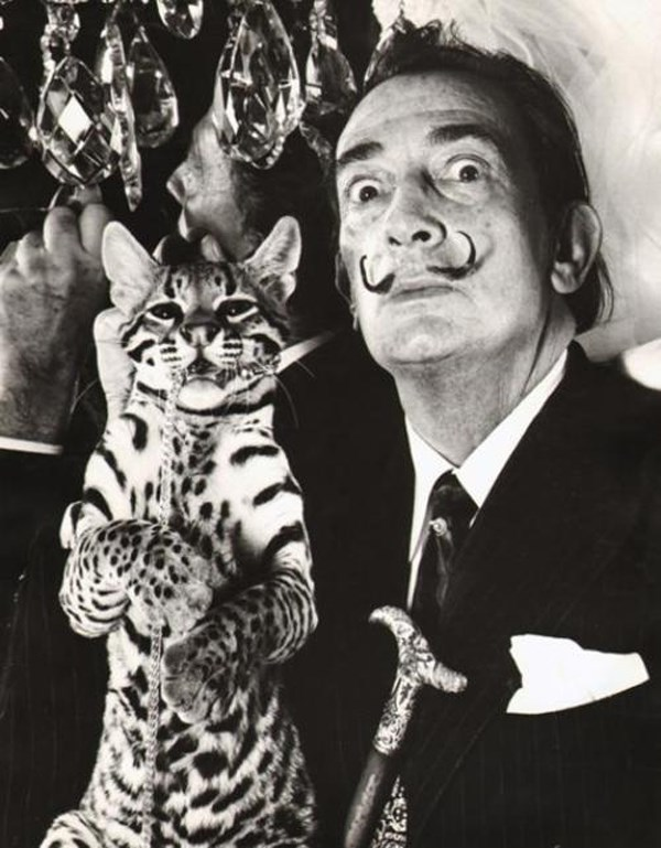 Salvador Dali with Babou